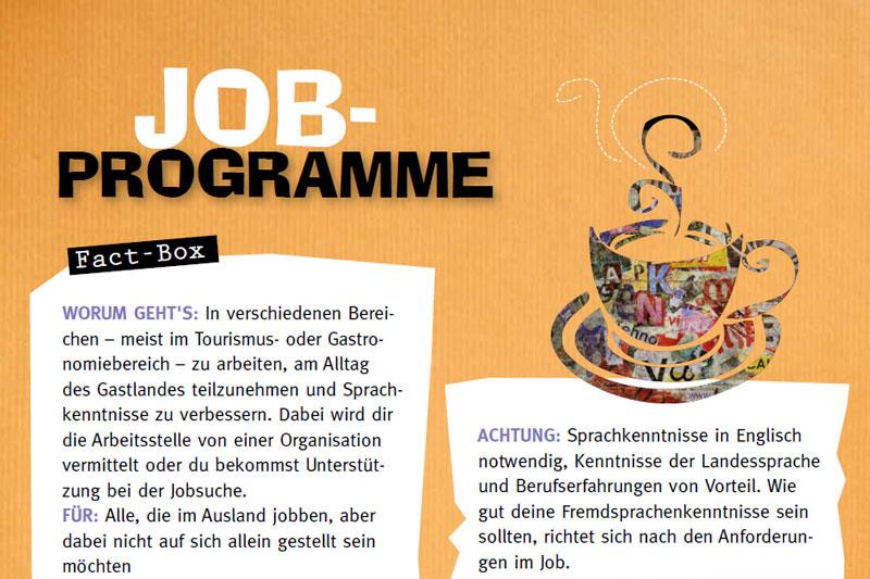 Jobben & Jobprogramme im Ausland