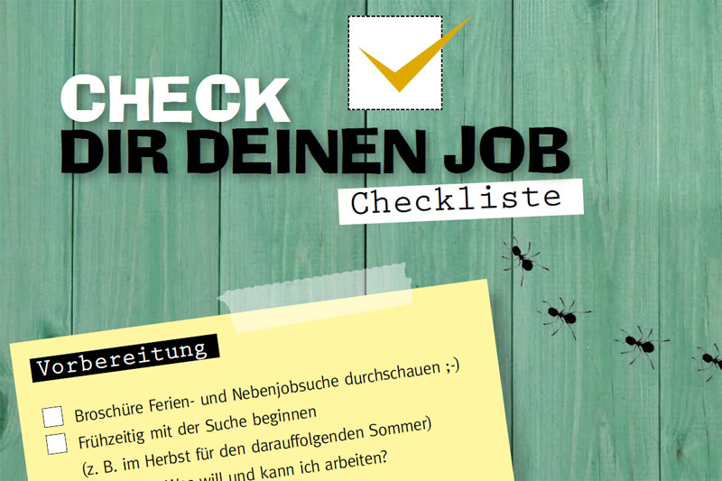 Checkliste Ferien- & Nebenjobsuche